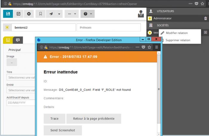error editing relation